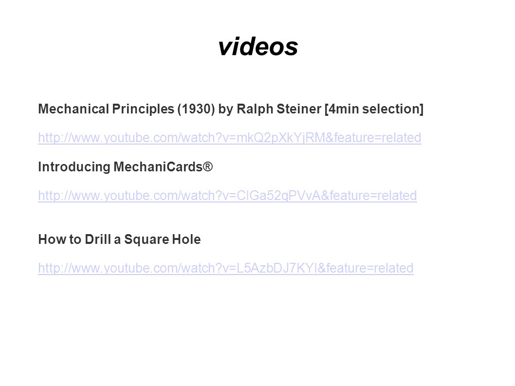 videos Mechanical Principles (1930) by Ralph Steiner [4min selection]